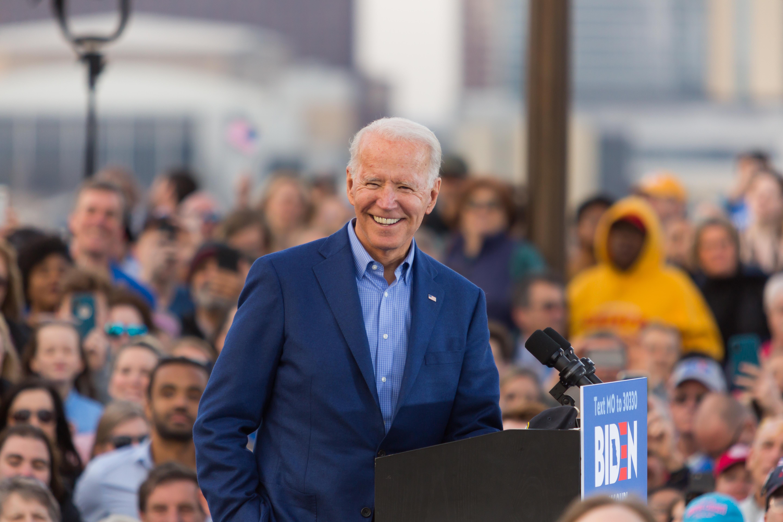 Joe Biden (D): one year ago